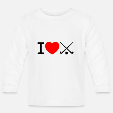 Field Hockey I love field hockey - Floorball - Baby Long Sleeve T-Shirt