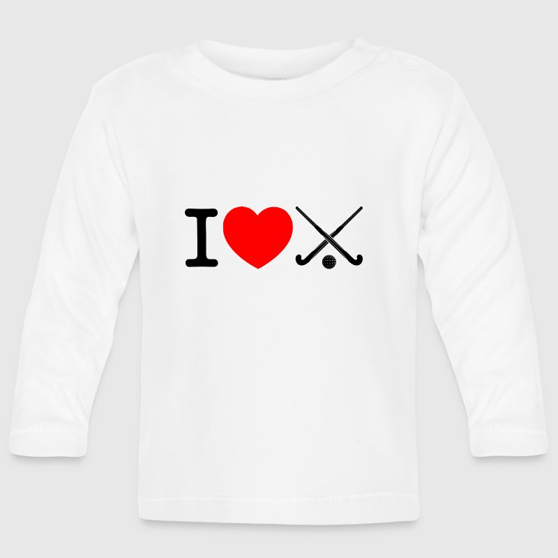 Te amo campo hockey - Floorball - Camiseta manga larga bebé