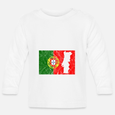 Portugal outline Portuguese flag travel vacation - Baby Longsleeve Shirt