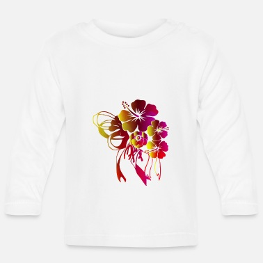 Bloom Floral gift with bow ribbon - Baby Longsleeve Shirt