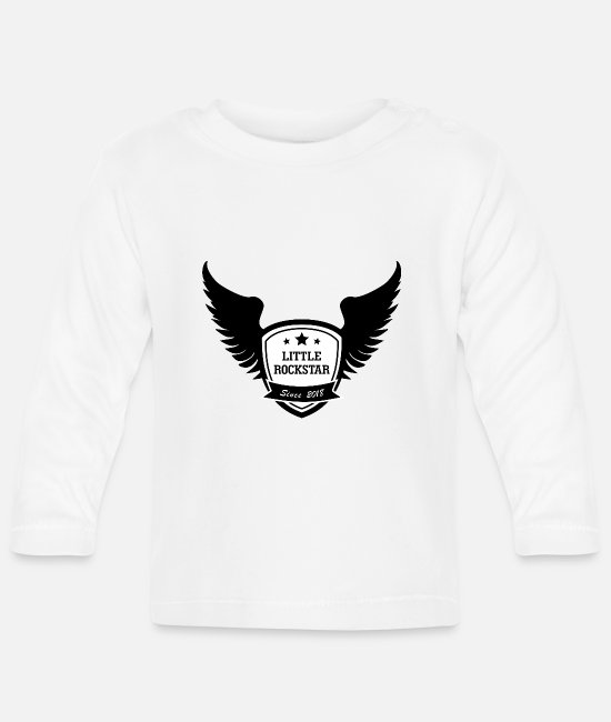 Wing Baby Long-Sleeved Shirts - Little Rock Star | Swing - Baby Longsleeve Shirt white