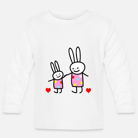 Big Baby Clothes - rabbit children - Baby Longsleeve Shirt white