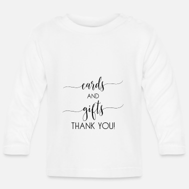 Cards cards and gifts card - Baby Longsleeve Shirt