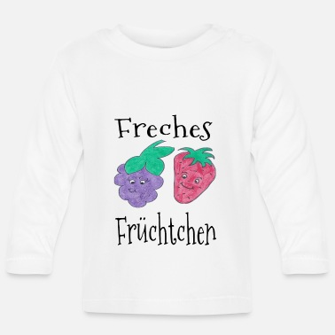 Abstract Cheeky fruit - zomer / trend / cool - Baby longsleeve