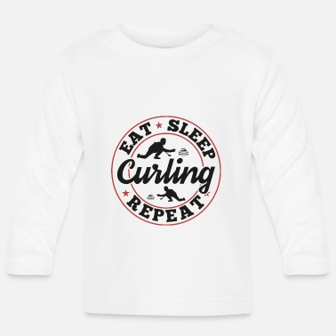 Meme Curling Sayings Memes Funny Funny Gift - T-shirt manches longues Bébé