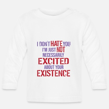 Independence I hate people thats why i love social distance - Baby Longsleeve Shirt