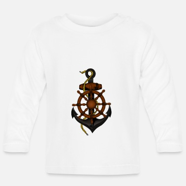 Starboard Starboard or port gift idea with anchor - Baby Longsleeve Shirt