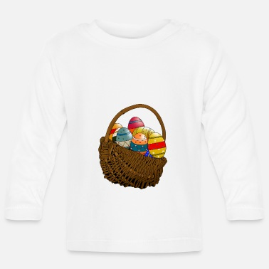 Bliss Easter basket with Easter eggs. Gift idea for Easter - Baby Longsleeve Shirt