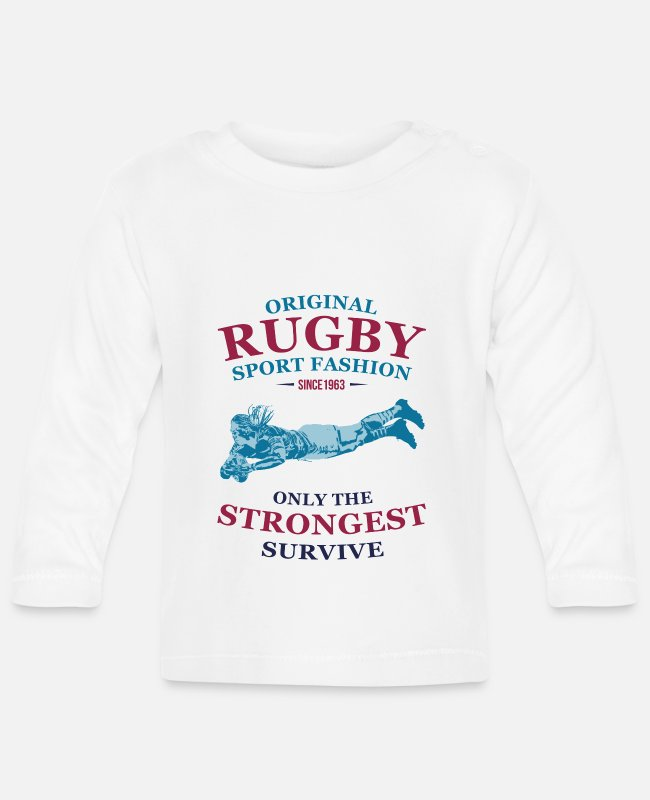 Rugby Baby Long-Sleeved Shirts - RUGBY - Baby Longsleeve Shirt white