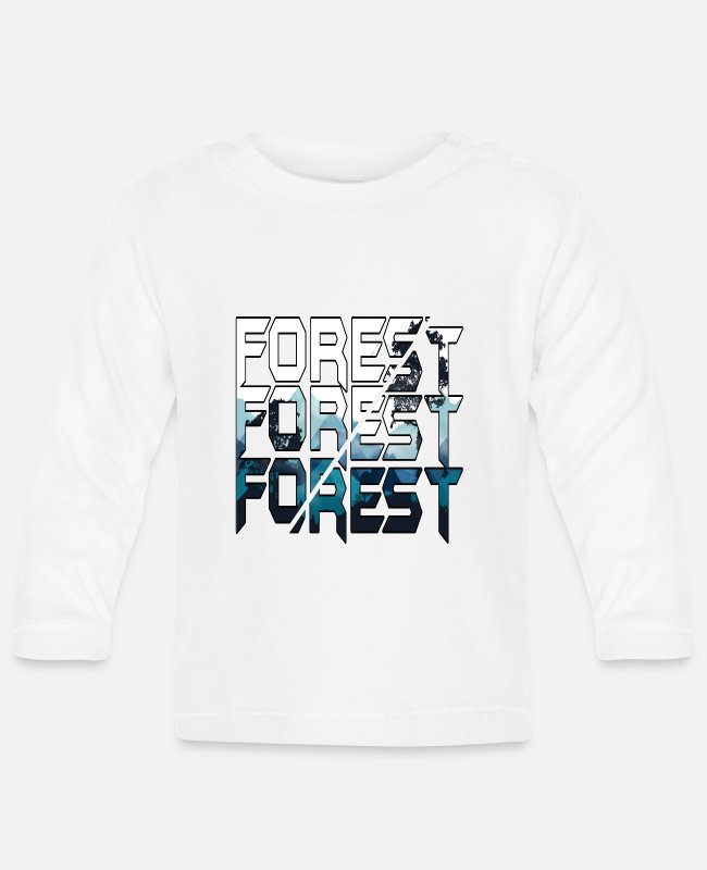 Nature Baby Long-Sleeved Shirts - Forest - forest - Baby Longsleeve Shirt white