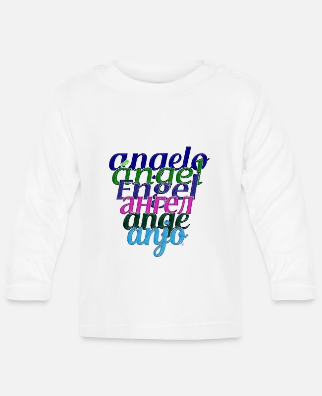 Ángel Baby Long-Sleeved Shirts - Angel - Baby Longsleeve Shirt white