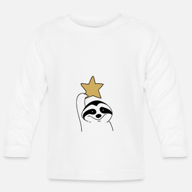 Christmas Christmas raccoon is looking for new friend - Baby Longsleeve Shirt