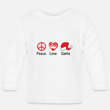 Rude PEACE LOVE SANTA - Baby Longsleeve Shirt