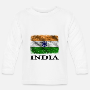 Indie India Flag, India - Camiseta de manga larga bebé