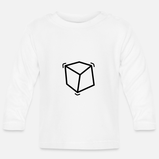 Cool Baby Clothes - Cube - Baby Longsleeve Shirt white