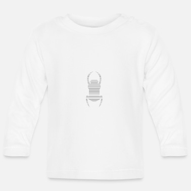 Travel Bug White geocaching travel bug - Baby Longsleeve Shirt