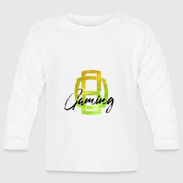 OB Gaming / Black lettering - Baby Long Sleeve T-Shirt
