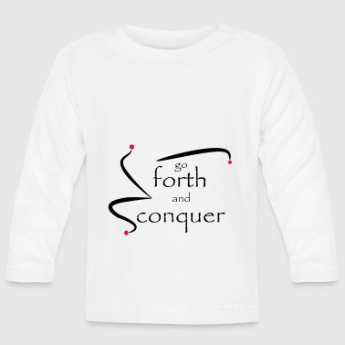 go_forth_red_black - Baby Long Sleeve T-Shirt