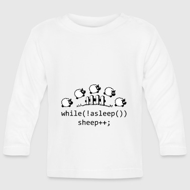 while! asleep - Baby Long Sleeve T-Shirt
