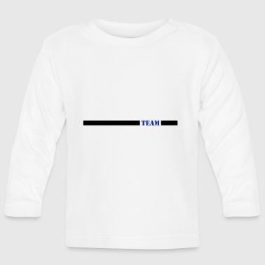 Team blue with bars - Baby Long Sleeve T-Shirt