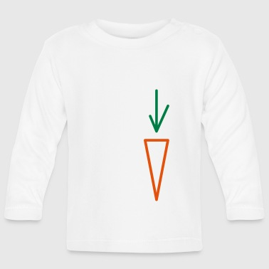 Minimal Abstract Carrot Triangle Outline - Baby Long Sleeve T-Shirt