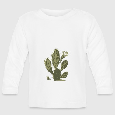 Pear Cactus in Bloom - Langarmet baby-T-skjorte