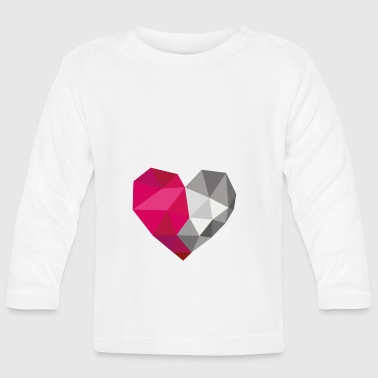silver heart - Baby Long Sleeve T-Shirt