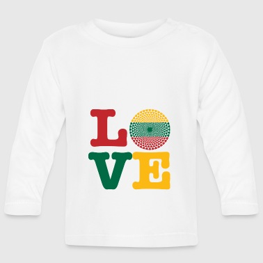 LITHUANIA HEART - Baby Long Sleeve T-Shirt