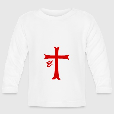 Red Dragon & Cross - Baby Long Sleeve T-Shirt