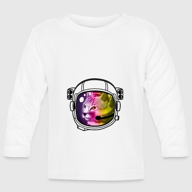 astro rainbow cat helmet nasa outer space stars brisk - Baby Long Sleeve T-Shirt