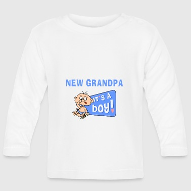 New Grandpa Personalize with Date or Name - Baby Long Sleeve T-Shirt