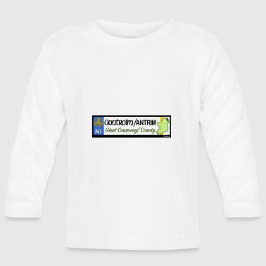 CO. ANTRIM, NORTHERN IRELAND licence plate tags - Baby Long Sleeve T-Shirt