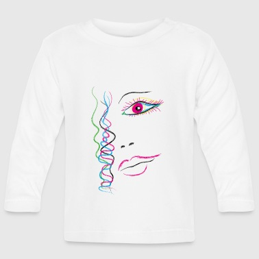 Illustration Woman - Baby Langarmshirt