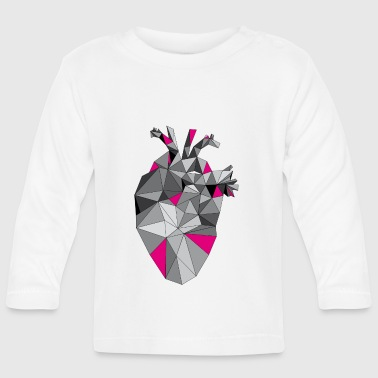 Graphic Heart with Pink - Baby Langarmshirt