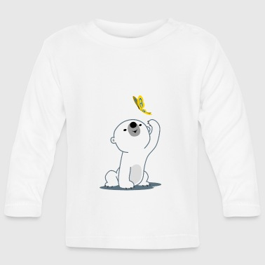 Cute Cartoon Polar Bear Cub by Cheerful Madness!! - Baby Long Sleeve T-Shirt