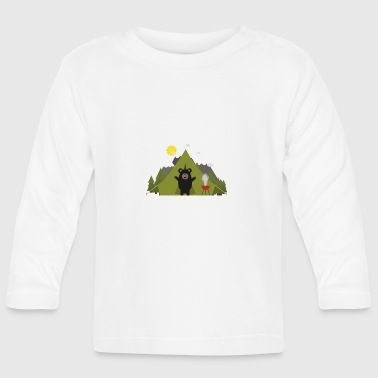 Grizzly bears camping - Baby Long Sleeve T-Shirt