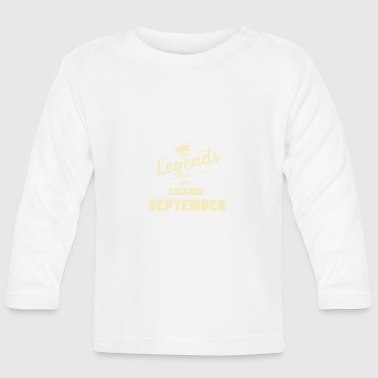 Legends are born in September - Baby Langarmshirt