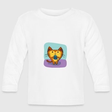 Cat with wool - Baby Long Sleeve T-Shirt