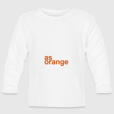 Logo-AS-Orange-Hvit - Langarmet baby-T-skjorte