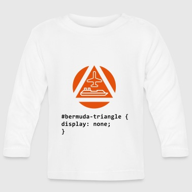 CSS pun: The Bermuda Triangle - Baby Long Sleeve T-Shirt