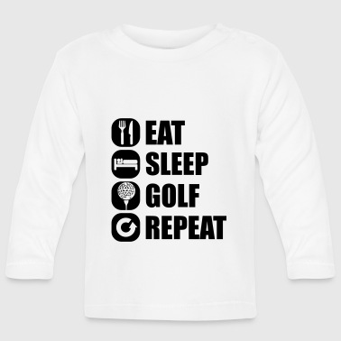 eat_sleep_golf_repeat_2_1f - Langærmet babyshirt