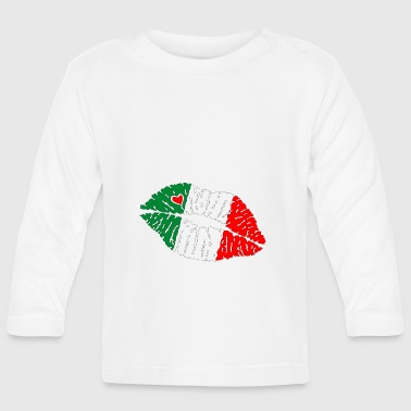 Flag Kiss Lips Italia - Baby Long Sleeve T-Shirt