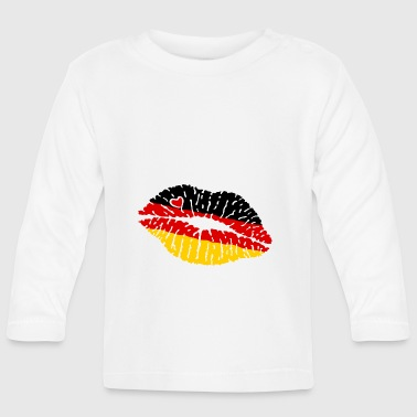 Flag Kiss Lips Germany - Baby Long Sleeve T-Shirt