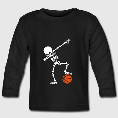 Dab dabbing skeleton football basketball - Camiseta manga larga bebé