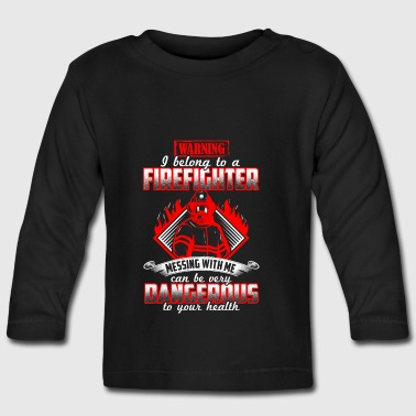 I belong to a firefighter - EN - T-shirt manches longues Bébé