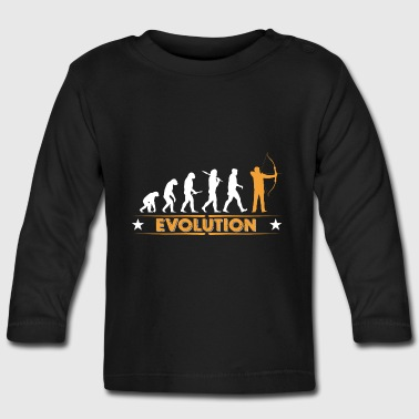 Archery evolution - orange/white - Baby Long Sleeve T-Shirt