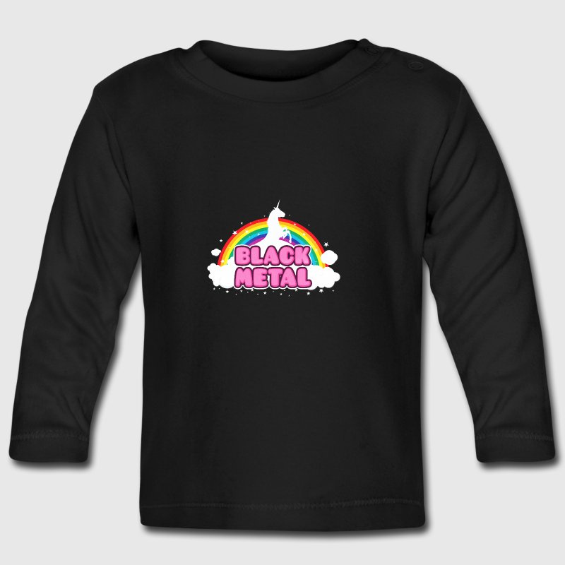 BLACK METAL - Funny / Unicorn - Rainbow - parodie - T-shirt