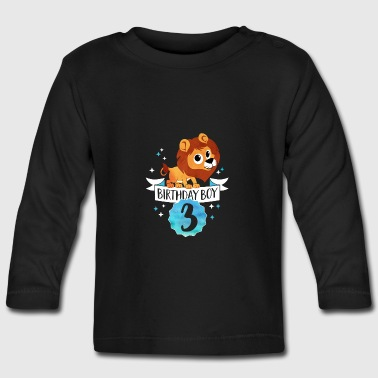 Birthday Boy - 3rd Birthday — three years old party - Baby Long Sleeve T-Shirt