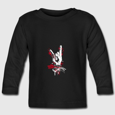 Metal and rock hand sign - Baby Long Sleeve T-Shirt