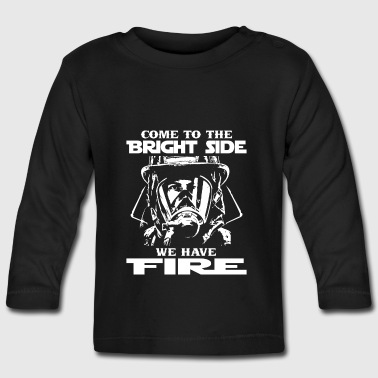 Fire fireman firefighter wife gift - Baby Long Sleeve T-Shirt